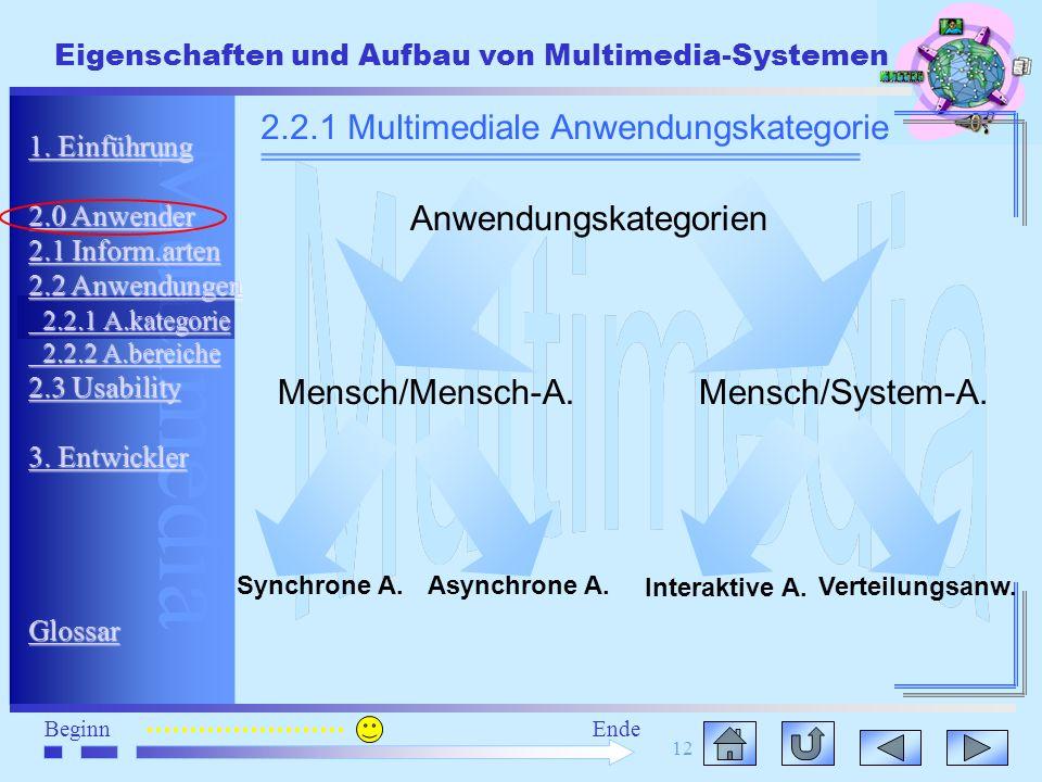 2.2.1 Multimediale Anwendungskategorie