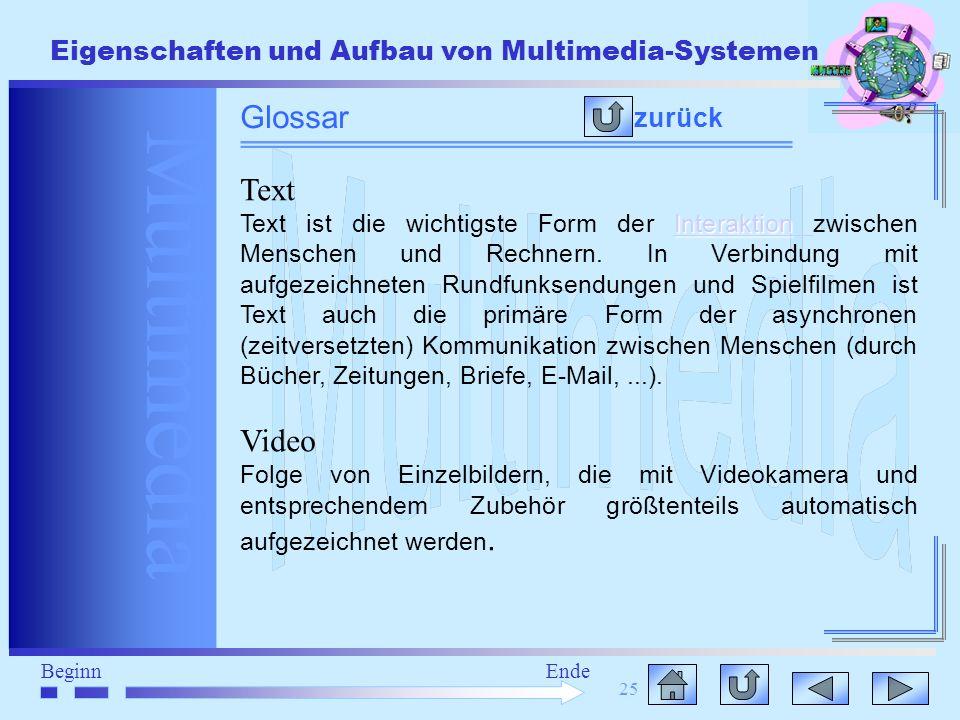 Glossar Text Video zurück