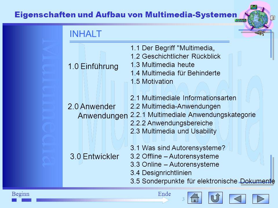 INHALT 1.0 Einführung 2.0 Anwender Anwendungen 3.0 Entwickler