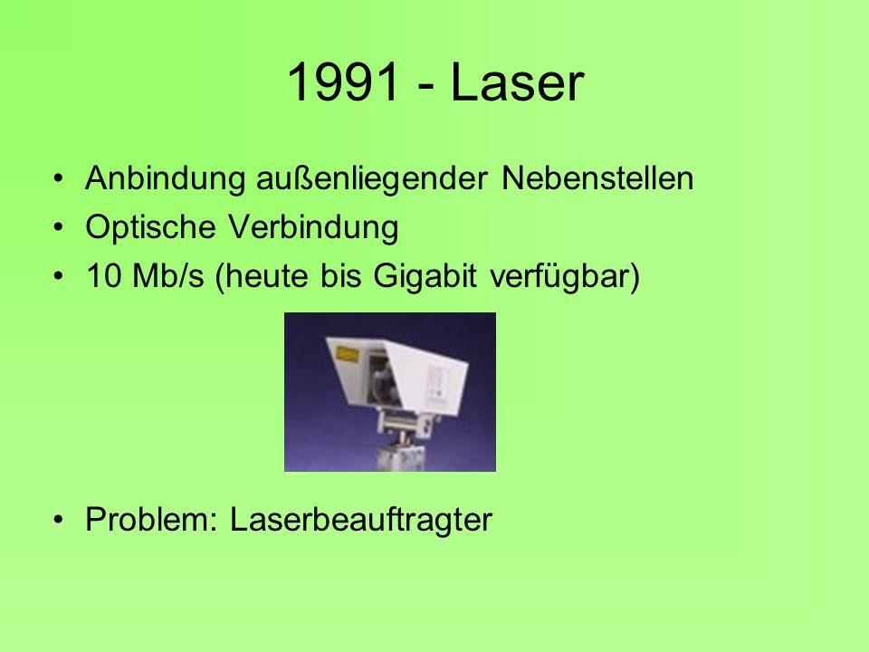 1991 - Laser Anbindung außenliegender Nebenstellen Optische Verbindung