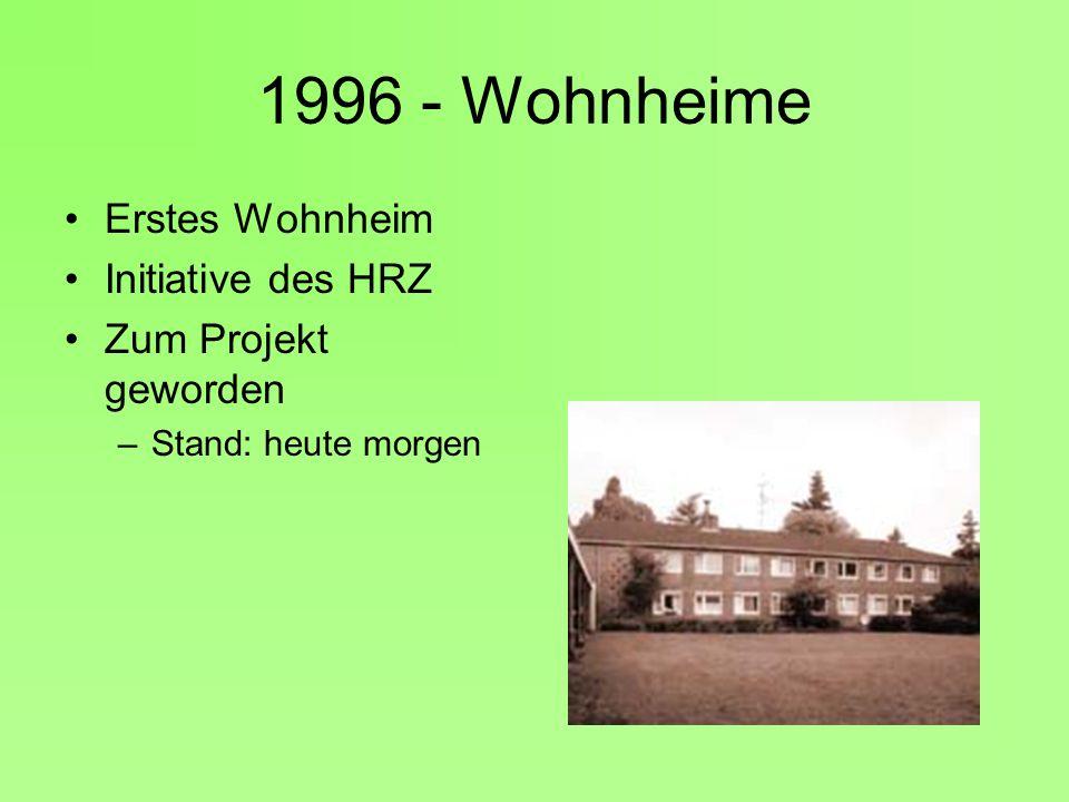 1996 - Wohnheime Erstes Wohnheim Initiative des HRZ