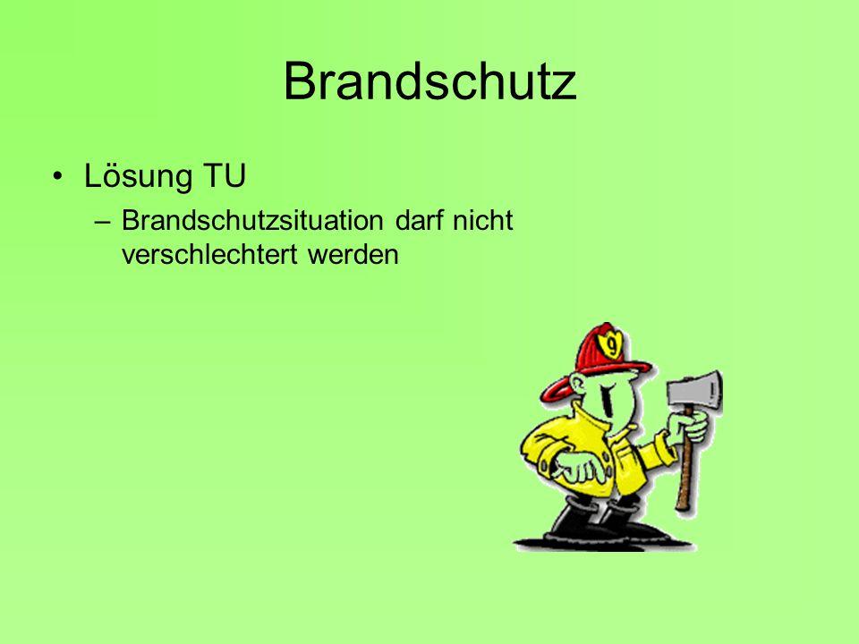 Brandschutz Lösung TU Brandschutzsituation darf nicht verschlechtert werden