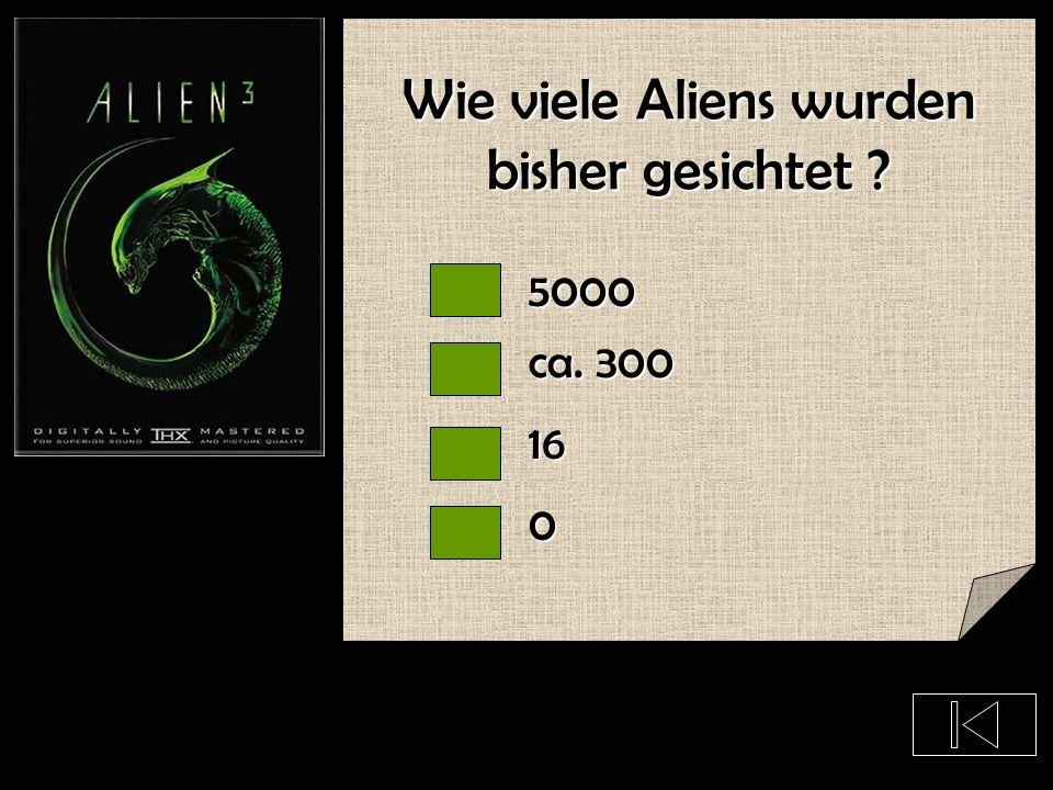 Wie viele Aliens wurden bisher gesichtet