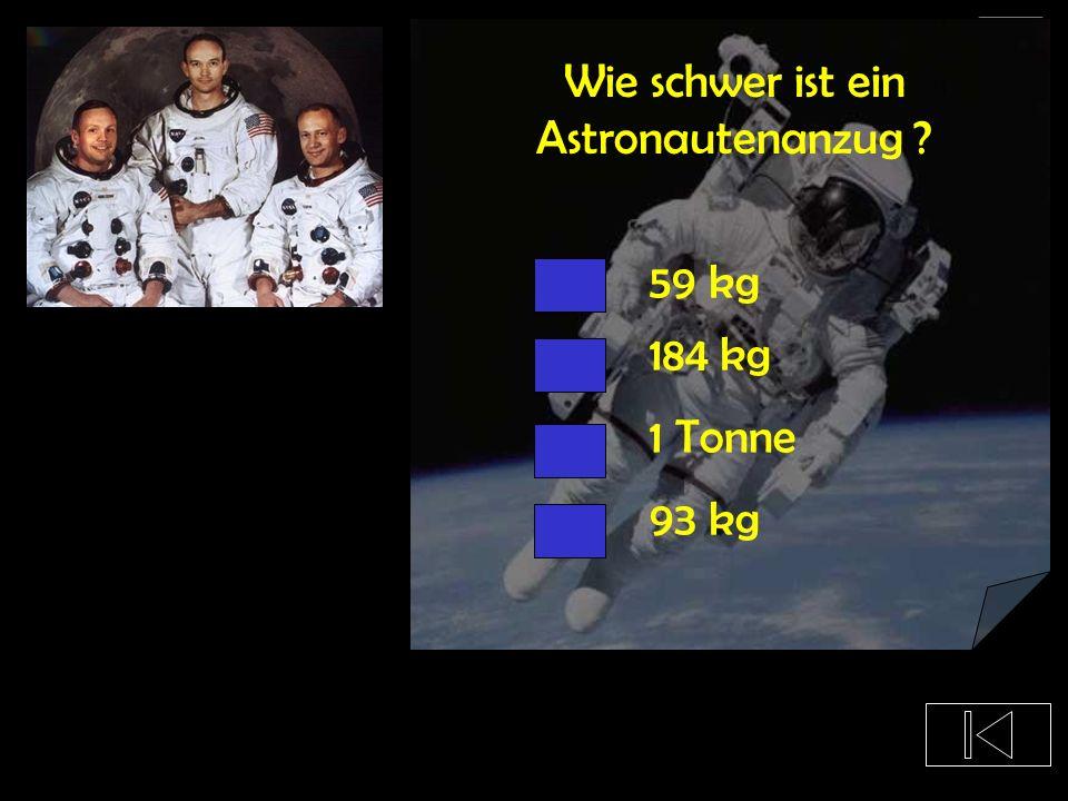 Wie schwer ist ein Astronautenanzug