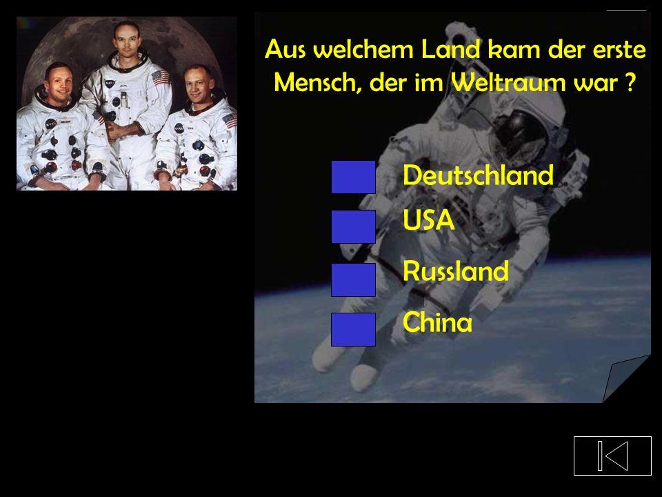 Aus welchem Land kam der erste Mensch, der im Weltraum war