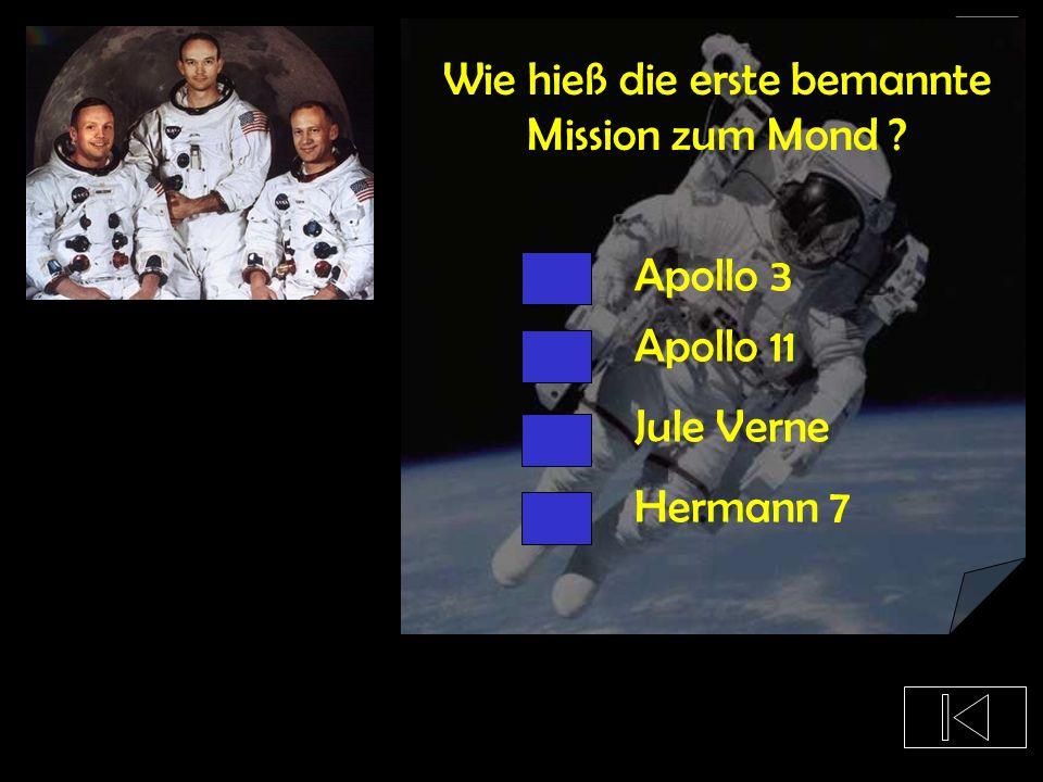 Wie hieß die erste bemannte Mission zum Mond