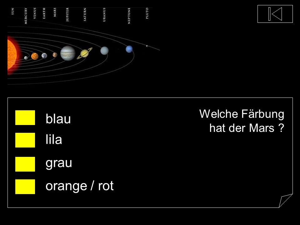 Welche Färbung hat der Mars