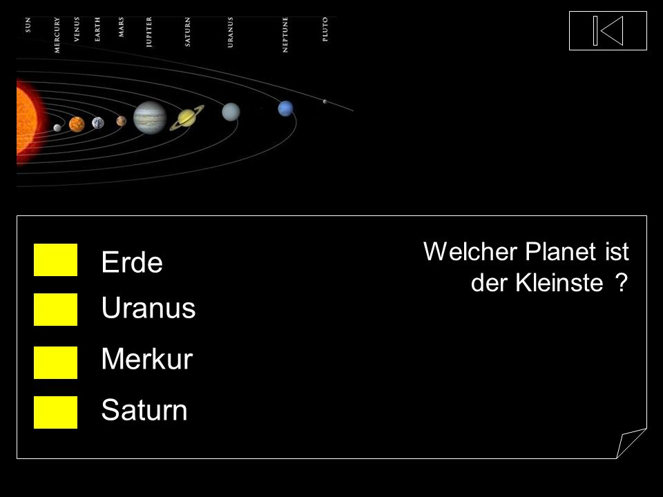 Welcher Planet ist der Kleinste