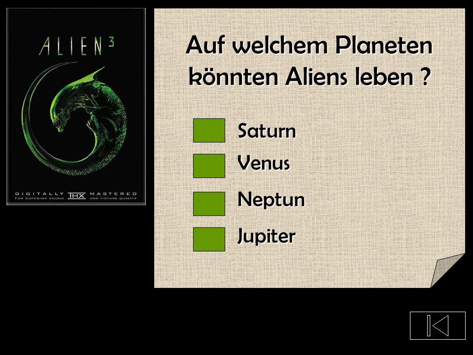 Auf welchem Planeten könnten Aliens leben