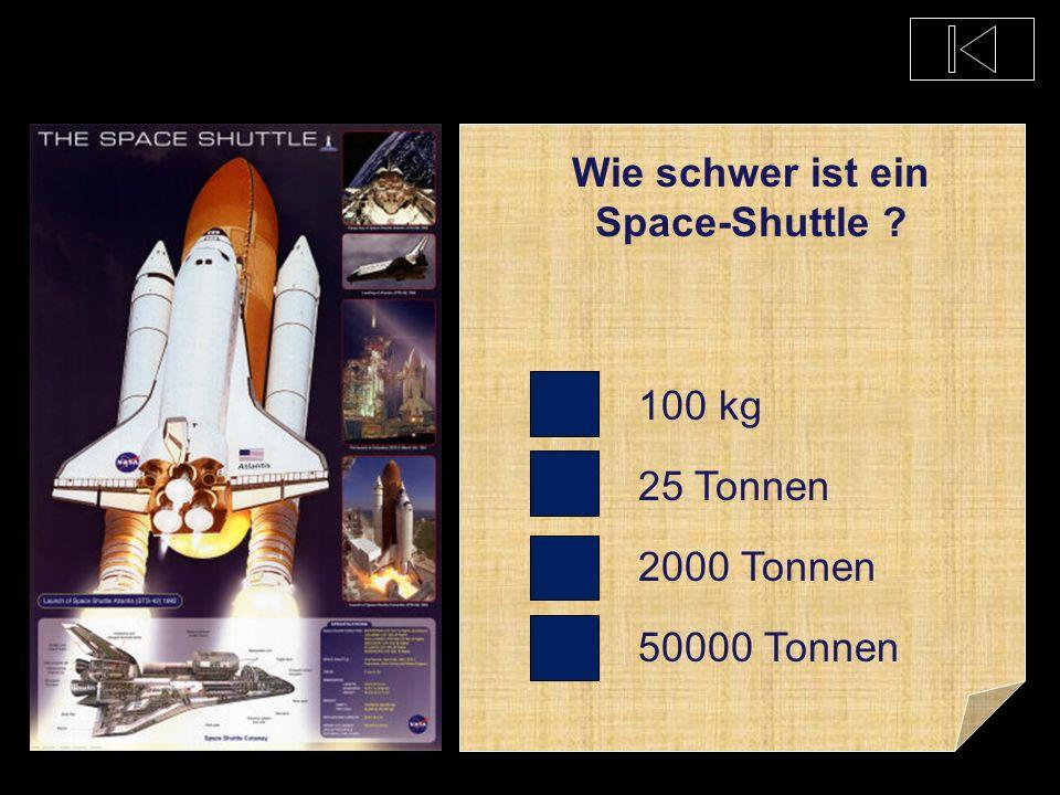 Wie schwer ist ein Space-Shuttle