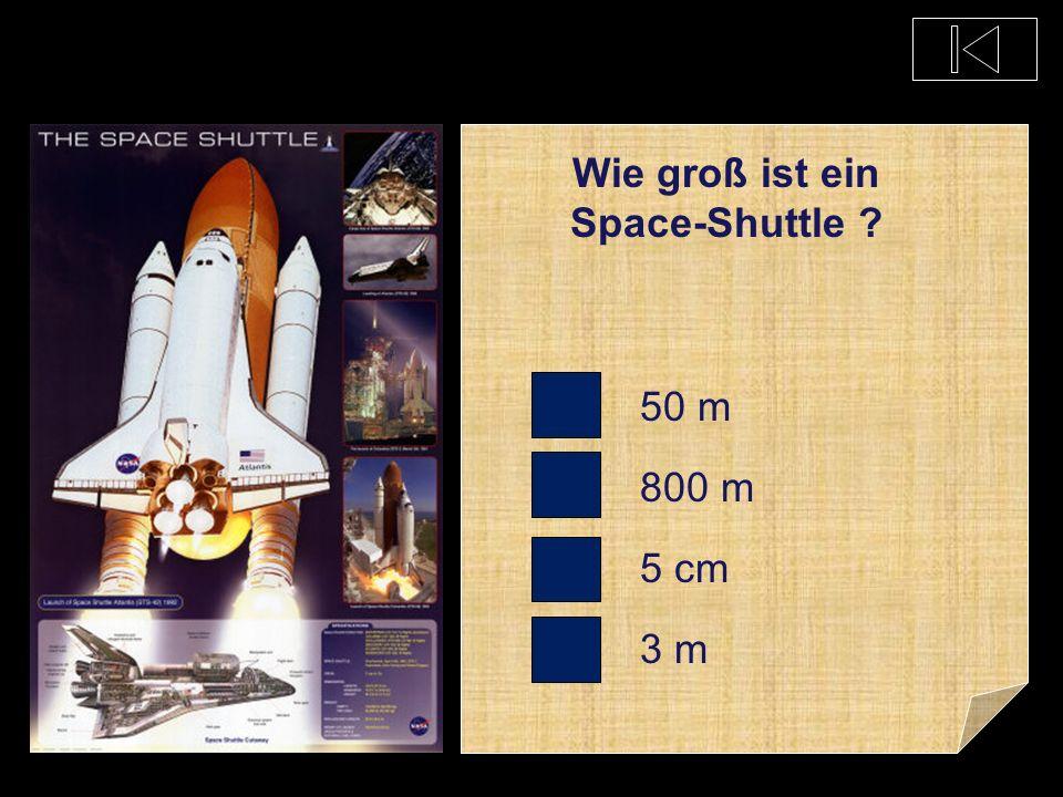 Wie groß ist ein Space-Shuttle
