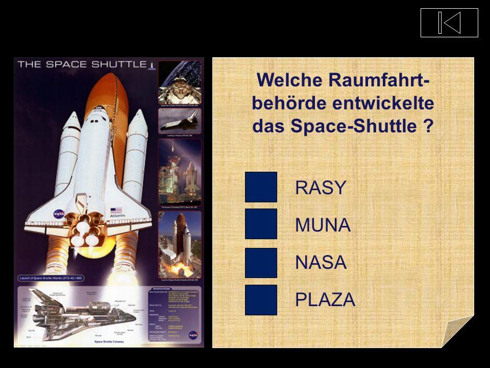 Welche Raumfahrt-behörde entwickelte das Space-Shuttle