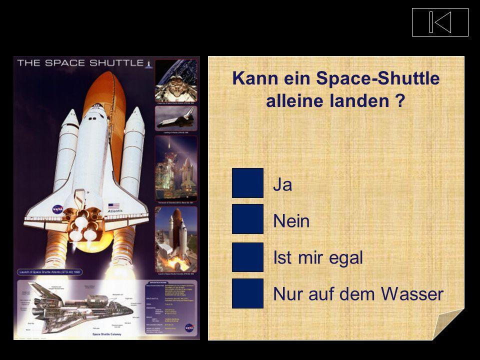 Kann ein Space-Shuttle alleine landen