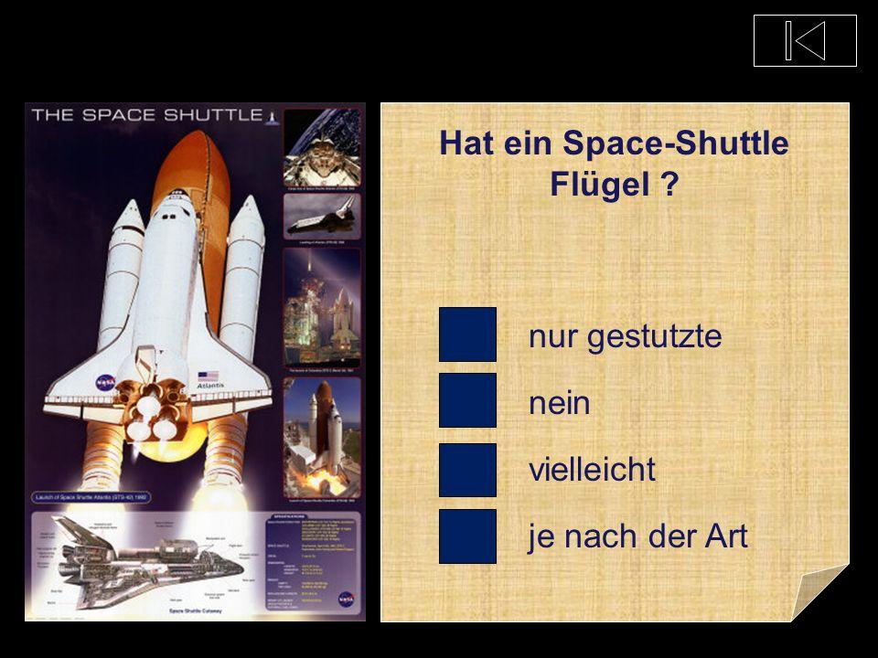 Hat ein Space-Shuttle Flügel