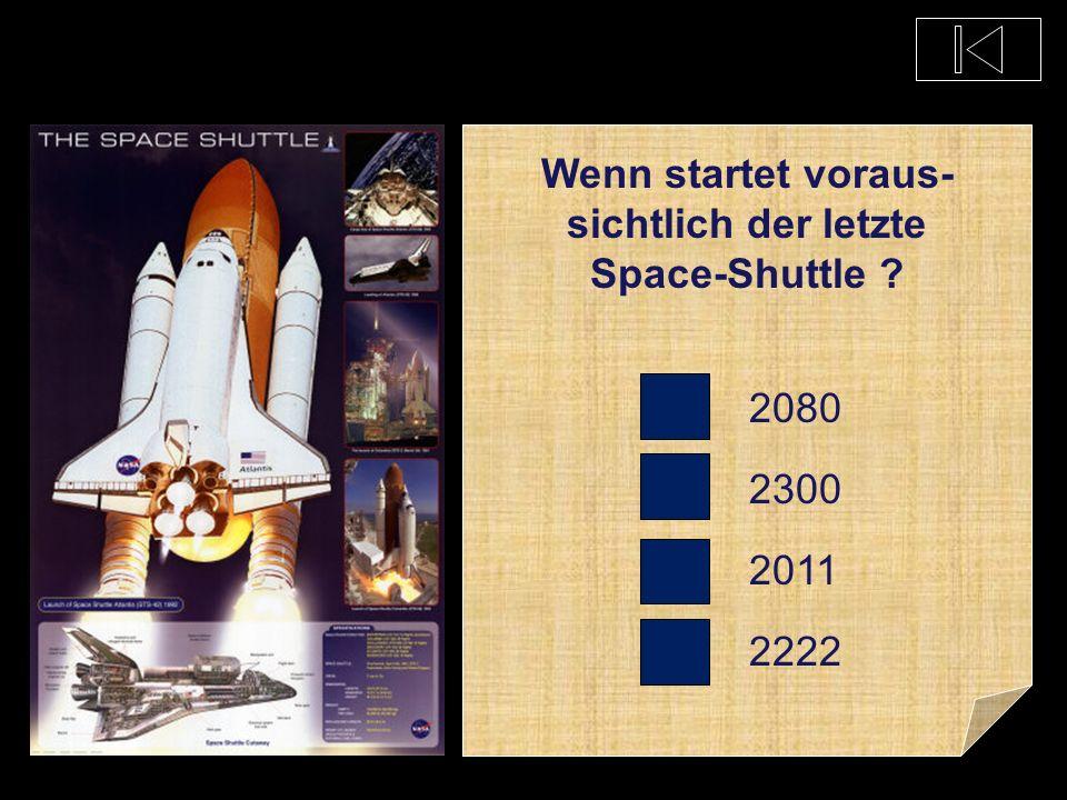 Wenn startet voraus-sichtlich der letzte Space-Shuttle