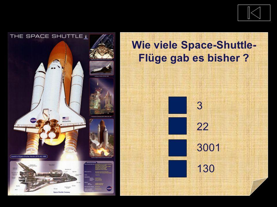 Wie viele Space-Shuttle-Flüge gab es bisher