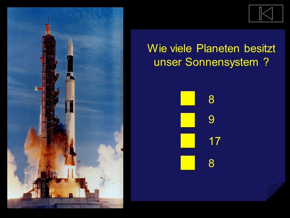 Wie viele Planeten besitzt unser Sonnensystem