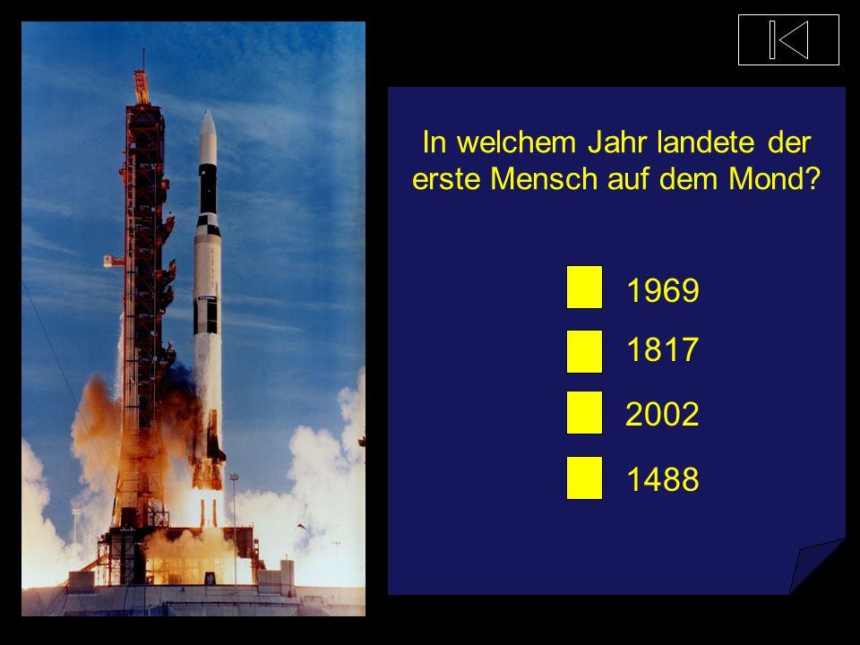 In welchem Jahr landete der erste Mensch auf dem Mond