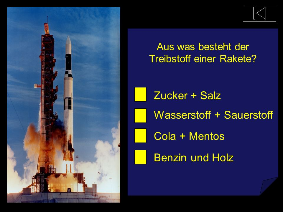 Aus was besteht der Treibstoff einer Rakete