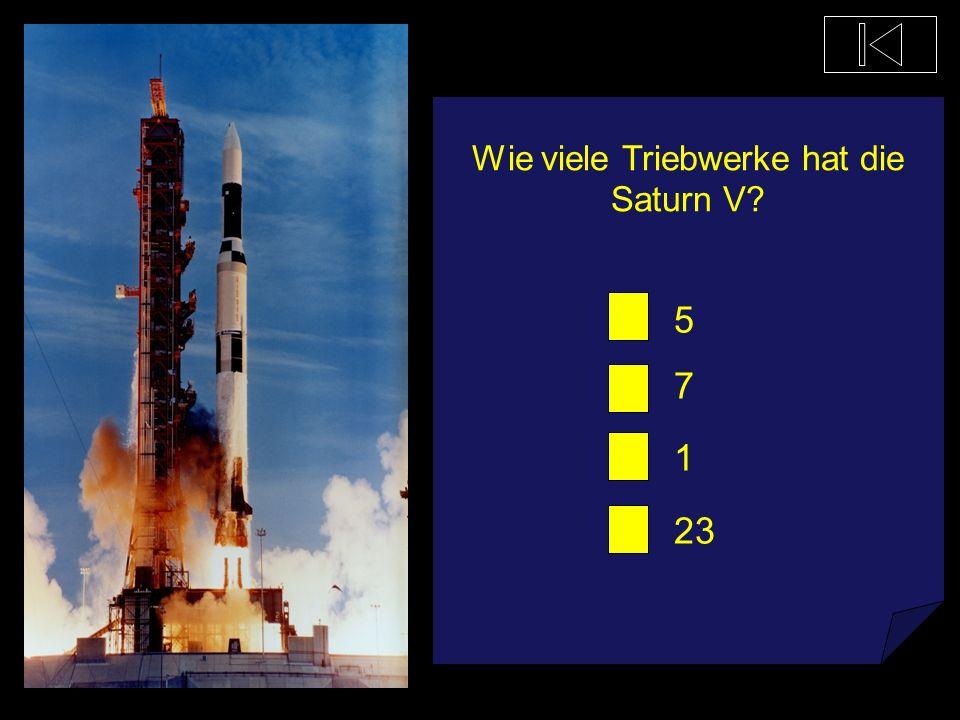 Wie viele Triebwerke hat die Saturn V