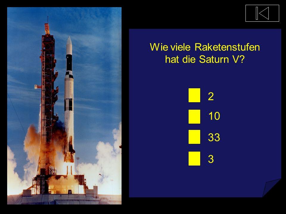 Wie viele Raketenstufen hat die Saturn V