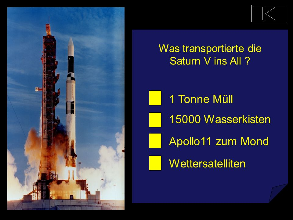 Was transportierte die Saturn V ins All