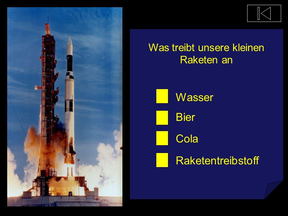 Was treibt unsere kleinen Raketen an