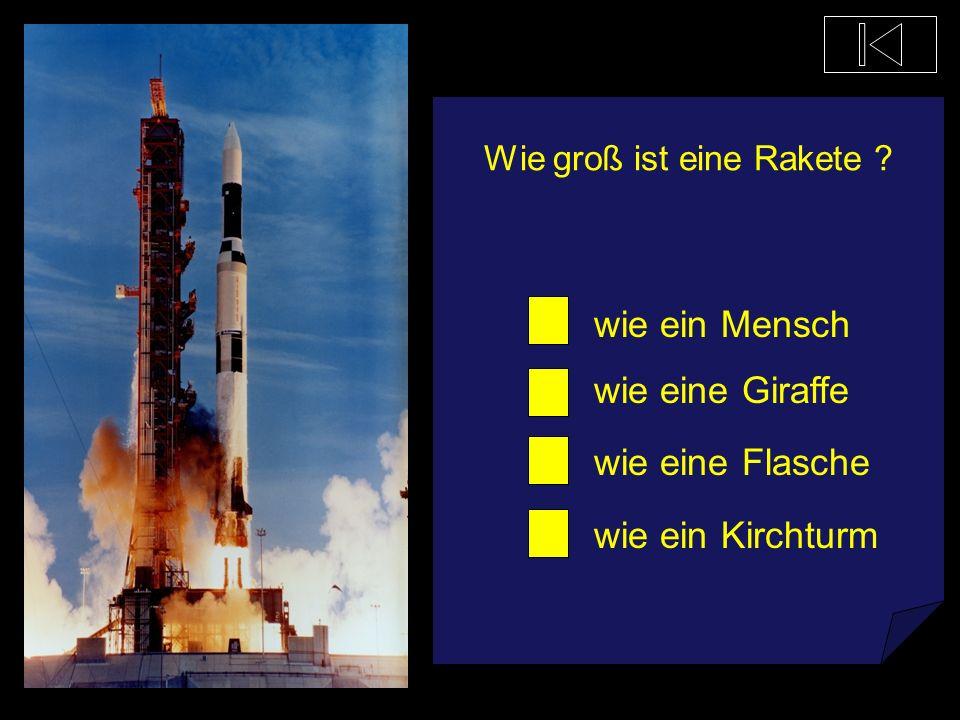 Wie groß ist eine Rakete