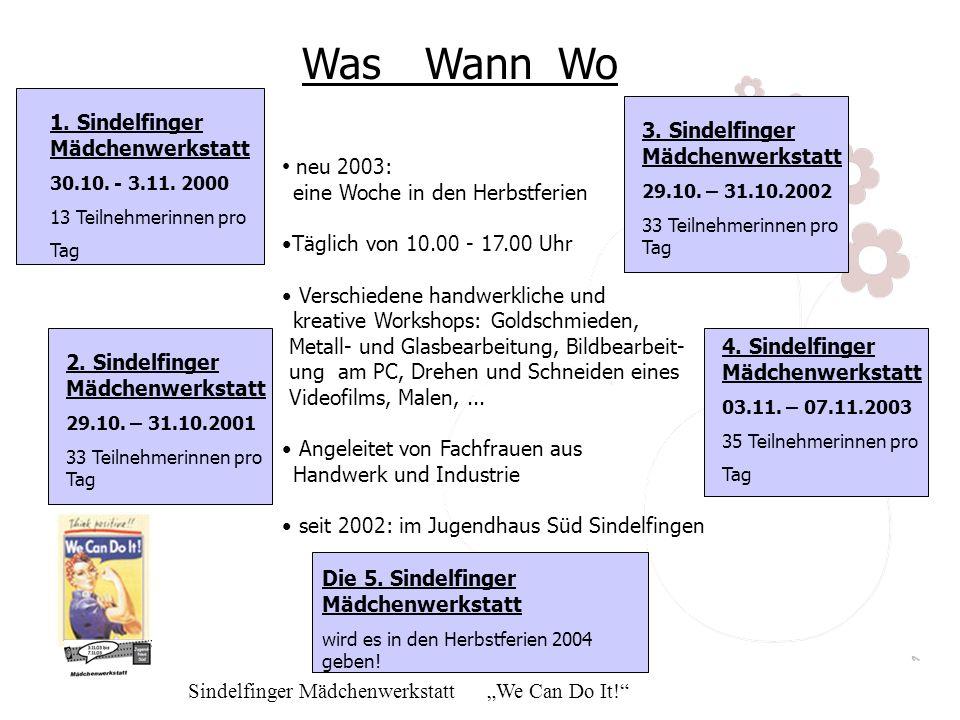 Was Wann Wo neu 2003: 1. Sindelfinger Mädchenwerkstatt