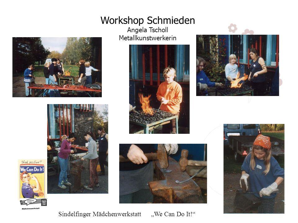 Workshop Schmieden Angela Tscholl Metallkunstwerkerin