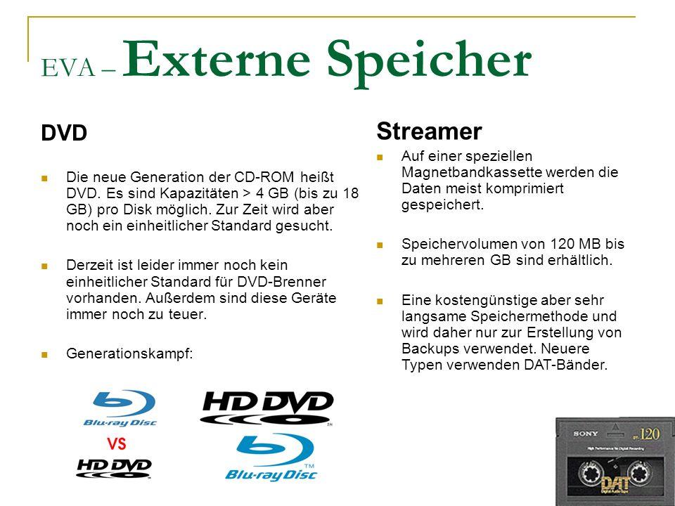 EVA – Externe Speicher Streamer DVD