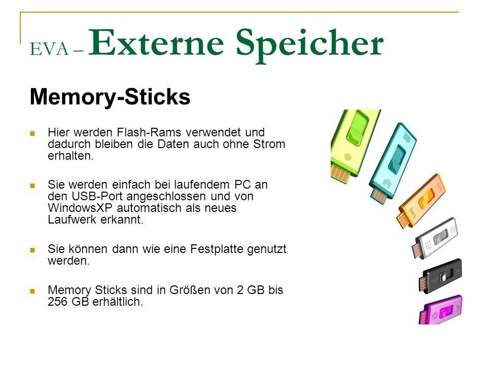 Memory-Sticks EVA – Externe Speicher