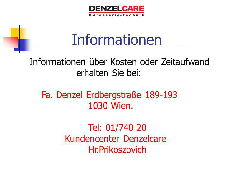 Informationen Informationen über Kosten oder Zeitaufwand