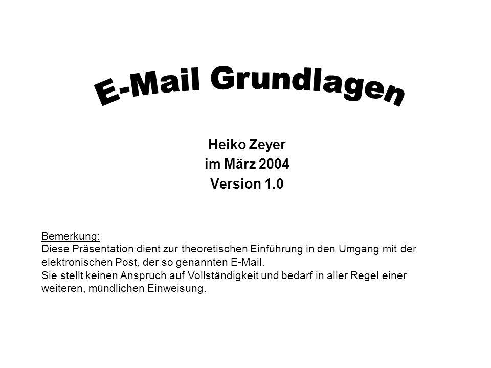 Heiko Zeyer im März 2004 Version 1.0