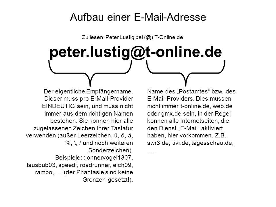Aufbau einer E-Mail-Adresse