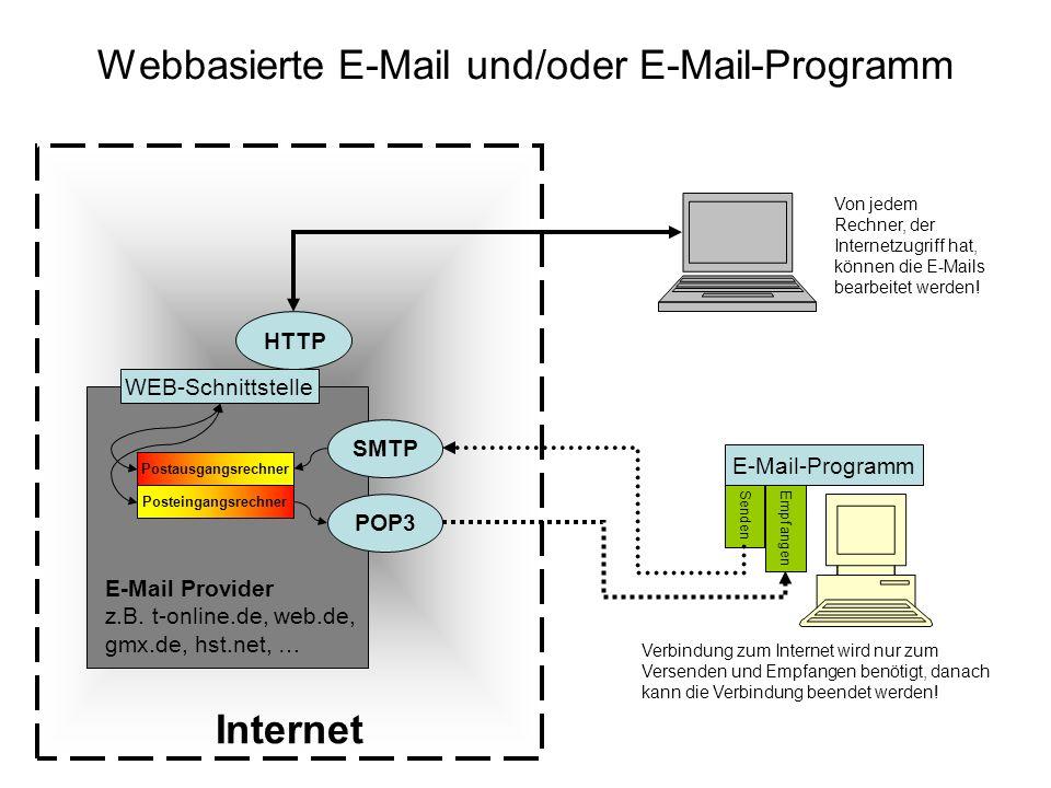 Webbasierte E-Mail und/oder E-Mail-Programm