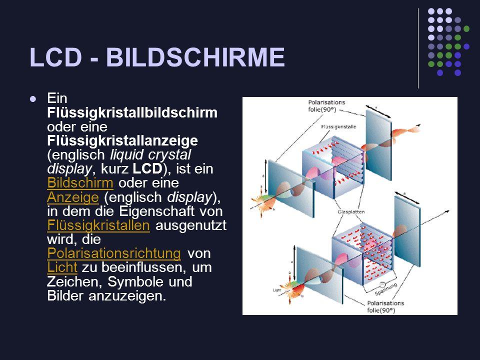 LCD - BILDSCHIRME