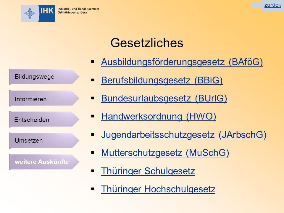 Gesetzliches Ausbildungsförderungsgesetz (BAföG)