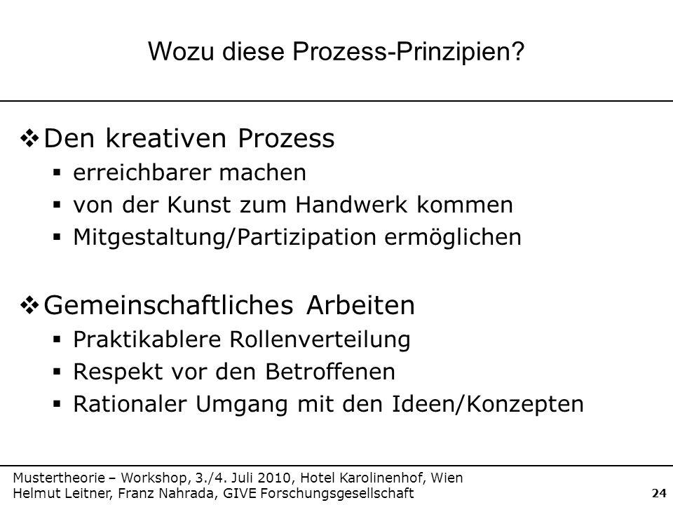 Wozu diese Prozess-Prinzipien