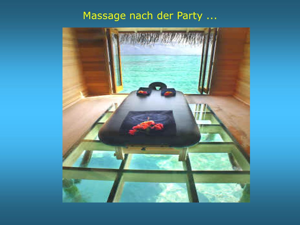 Massage nach der Party ...
