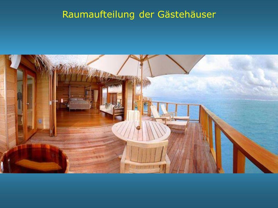 Raumaufteilung der Gästehäuser