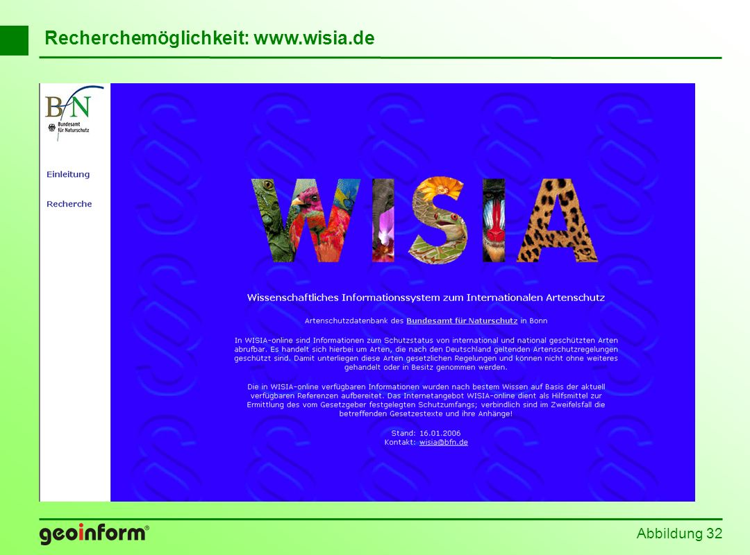 Recherchemöglichkeit: www.wisia.de