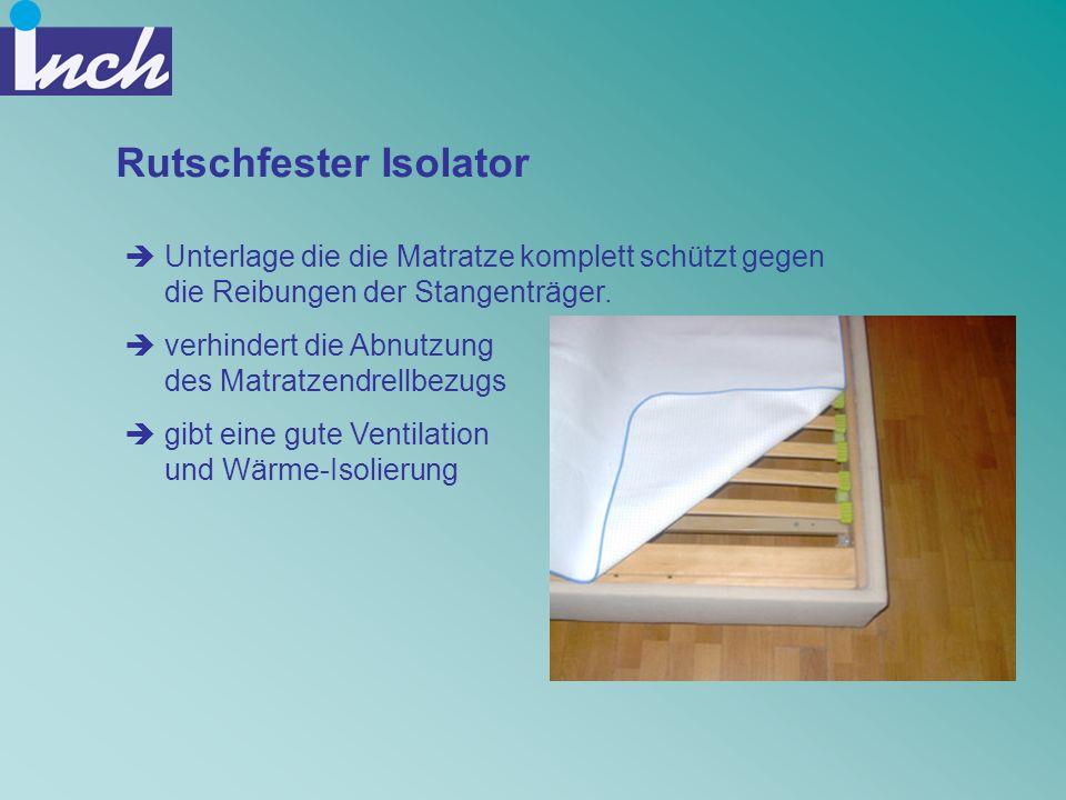 Rutschfester Isolator