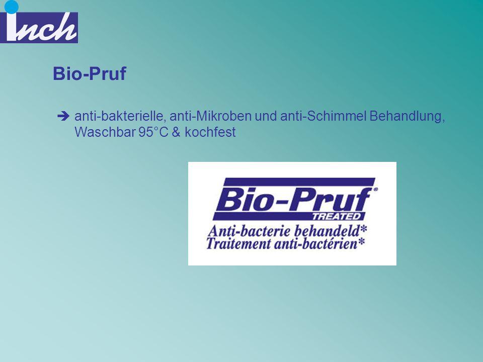 Bio-Pruf anti-bakterielle, anti-Mikroben und anti-Schimmel Behandlung, Waschbar 95°C & kochfest