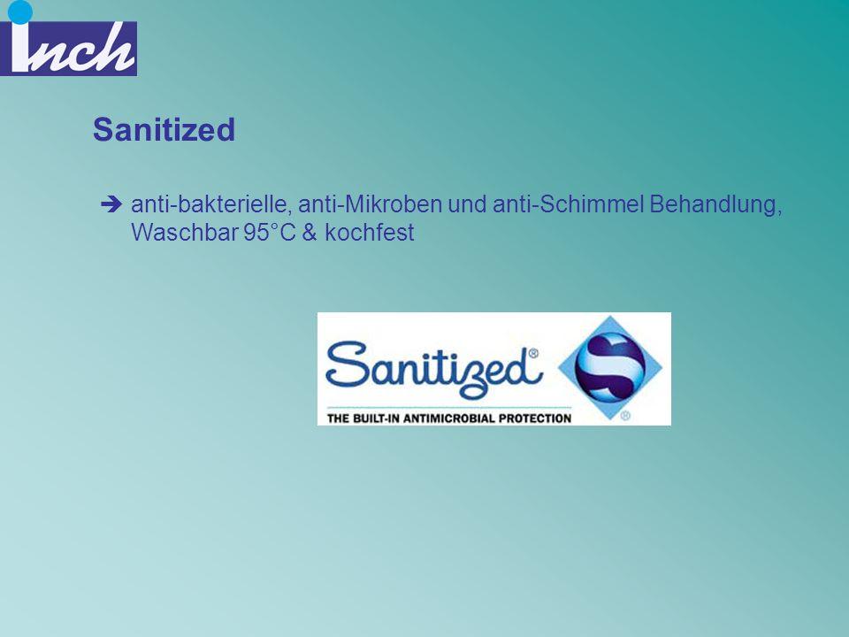 Sanitized anti-bakterielle, anti-Mikroben und anti-Schimmel Behandlung, Waschbar 95°C & kochfest