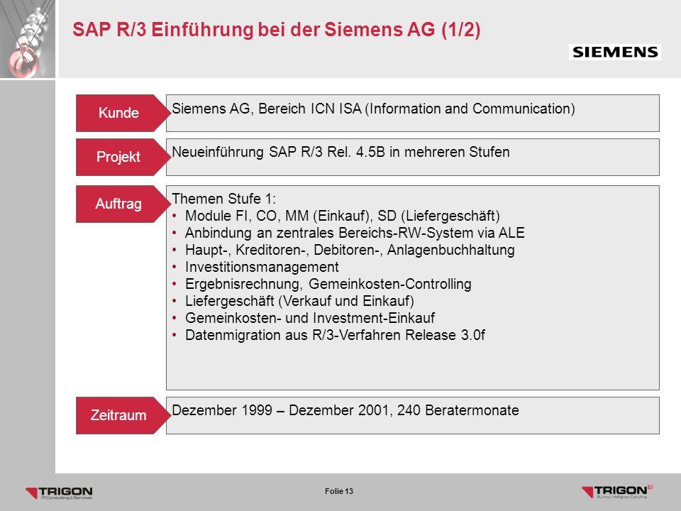 SAP R/3 Einführung bei der Siemens AG (1/2)