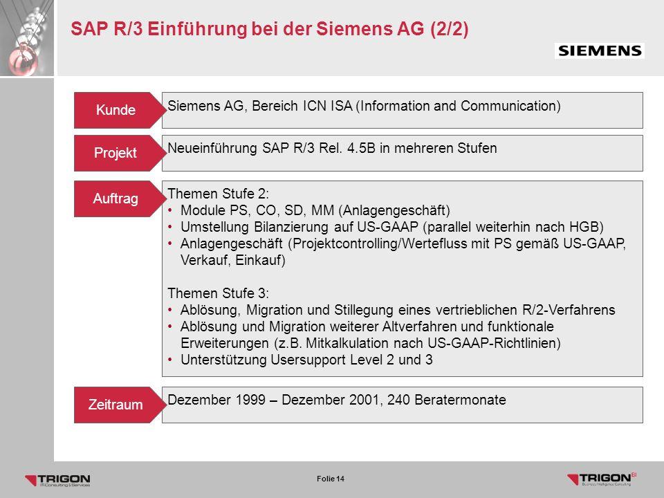 SAP R/3 Einführung bei der Siemens AG (2/2)