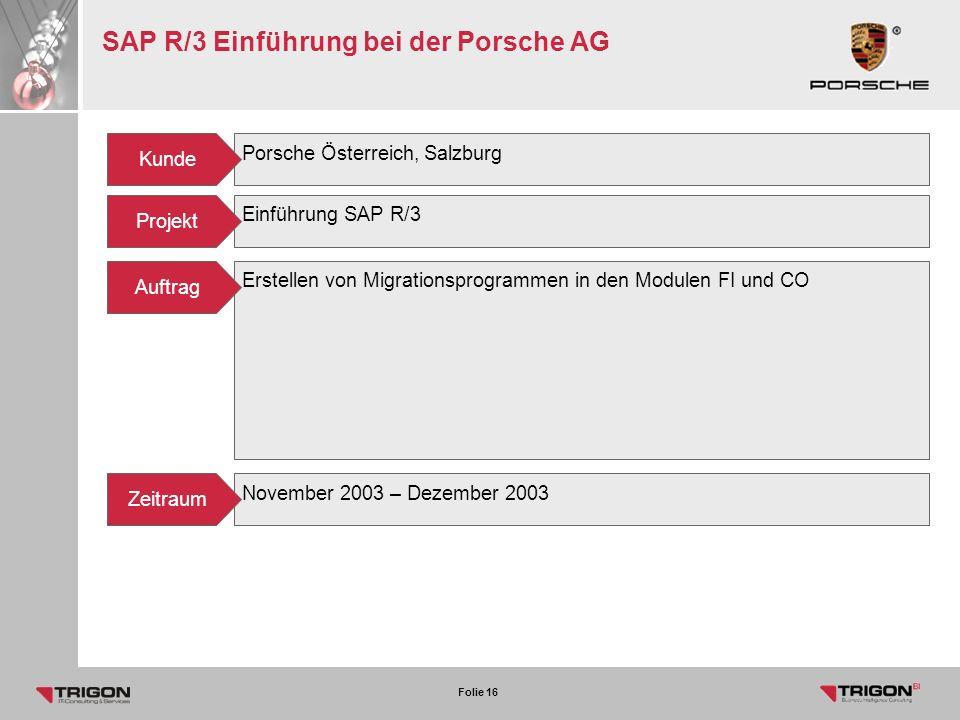 SAP R/3 Einführung bei der Porsche AG