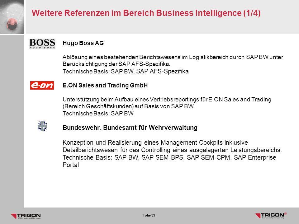 Weitere Referenzen im Bereich Business Intelligence (1/4)