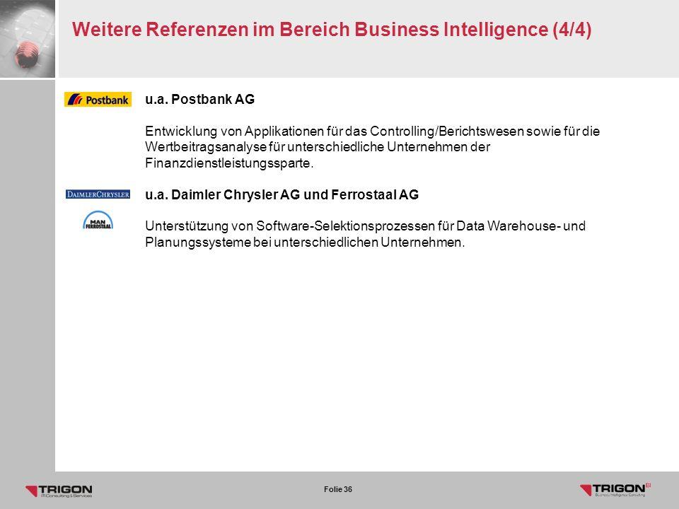 Weitere Referenzen im Bereich Business Intelligence (4/4)